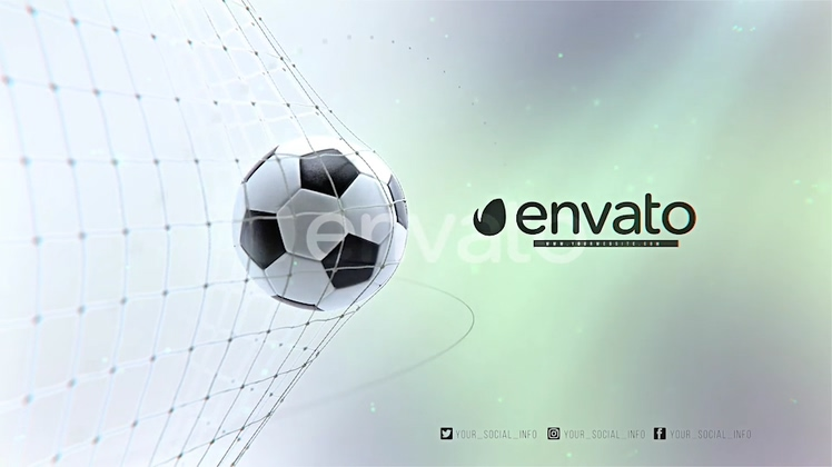 足球世界杯入网庆祝动画AE模板