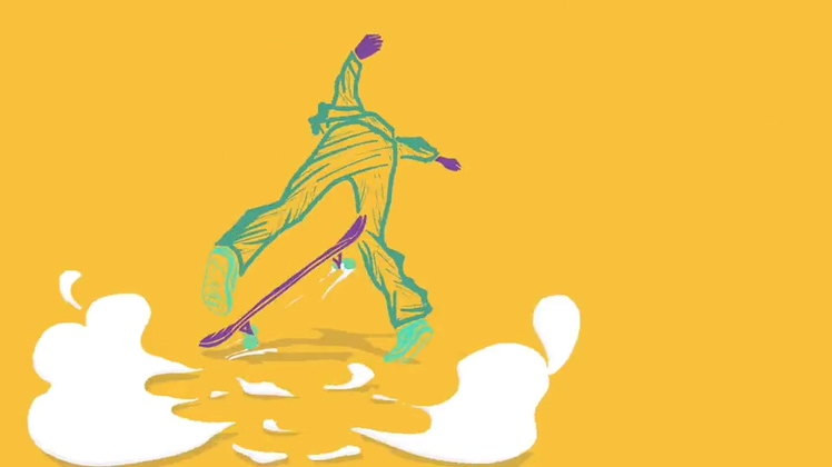 运动,滑板,青春活力滑板运动宣传logo片头视频素材