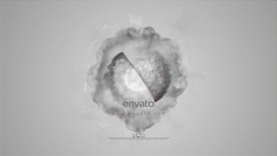 粒子旋转迸发时尚烟雾logo片头