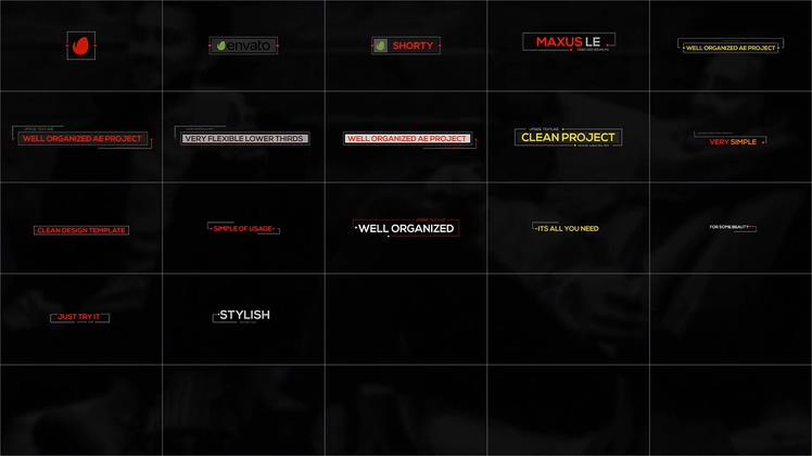 新闻,标题,字幕,红点线条简洁新闻字幕板式视频素材