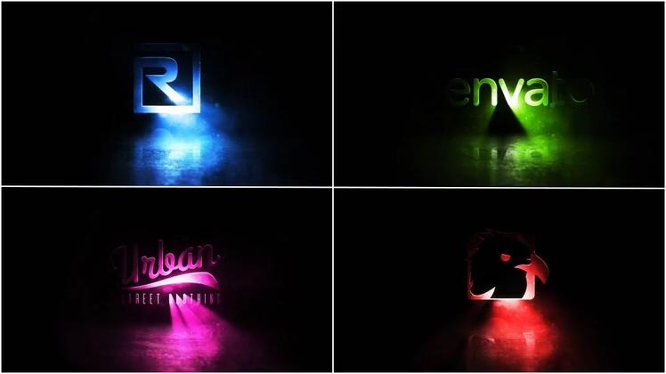 logo,黑暗中光影闪耀动感logo片头AE模板视频素材