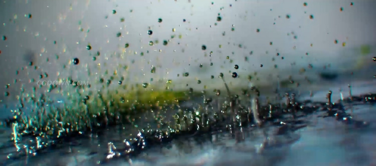 华丽实拍创意水分子粒子慢动作飞舞视频素材