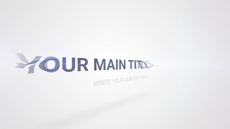 时尚科技文字logoPR模板