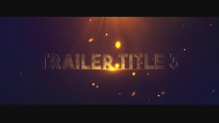 电影,标题,游戏电影预告粒子火花复联3效果文字ae模板片头视频素材