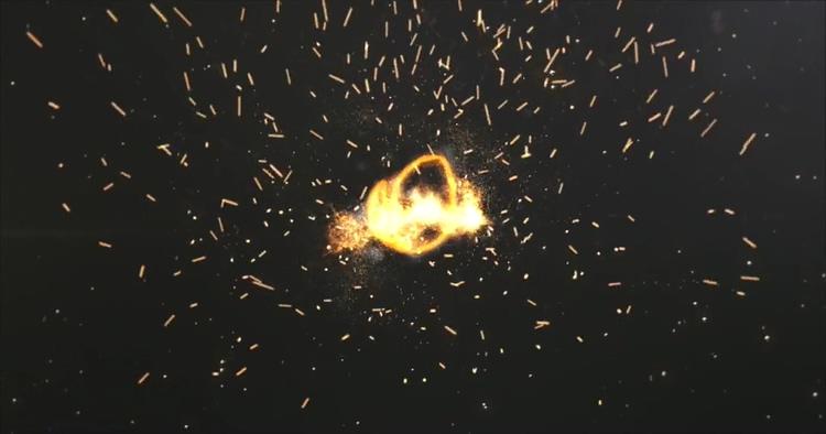 火焰,粒子,火花,火焰粒子线条火龙火花四溅logo片头ae模板视频素材