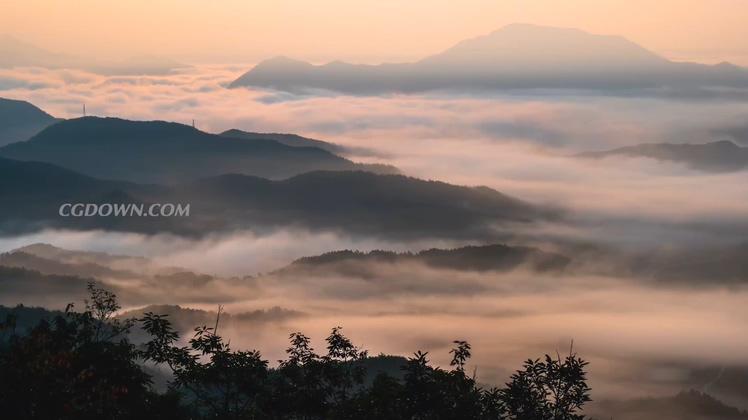实拍高清4k云海云雾云端视频素材