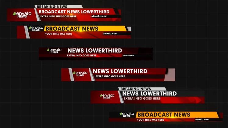 新闻,字幕版式,新闻资讯新闻标题播报字幕版式ae模板视频素材