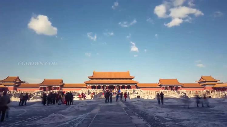 中国一线城市经济发展延时高清视频素材