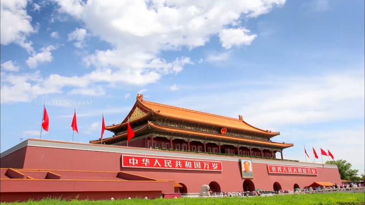 北京天安门故宫视频素材