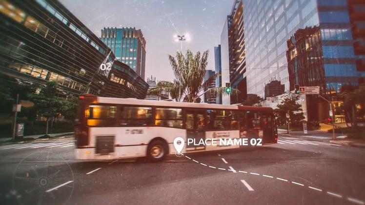 旅游,相册,时尚旅游线路元素相册AE模板视频素材