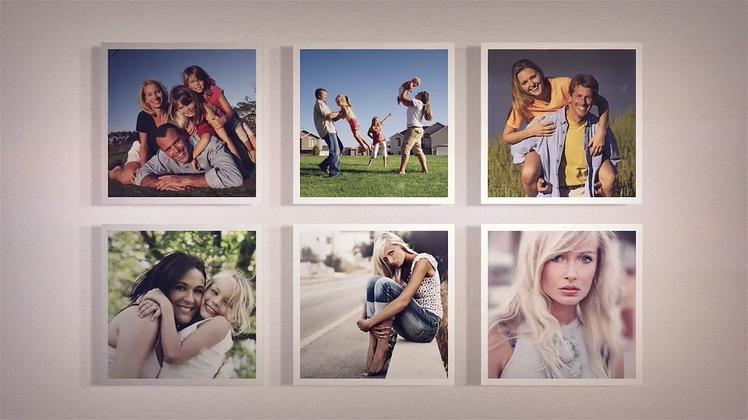 时尚简洁温馨家庭记忆相册AE模板