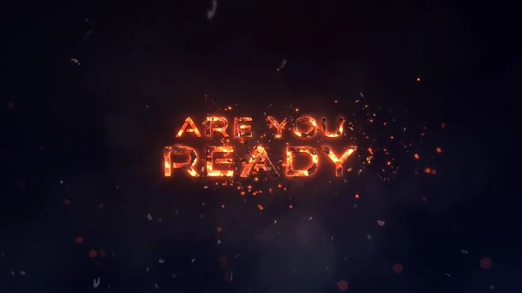 标题,金属,火焰,金属火焰粒子文字标题AE片头视频素材