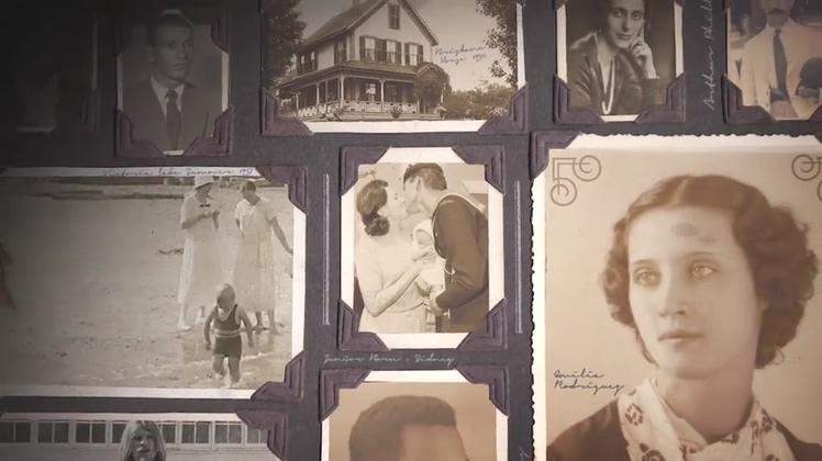 爱情记忆复古成长相册书籍AE模板