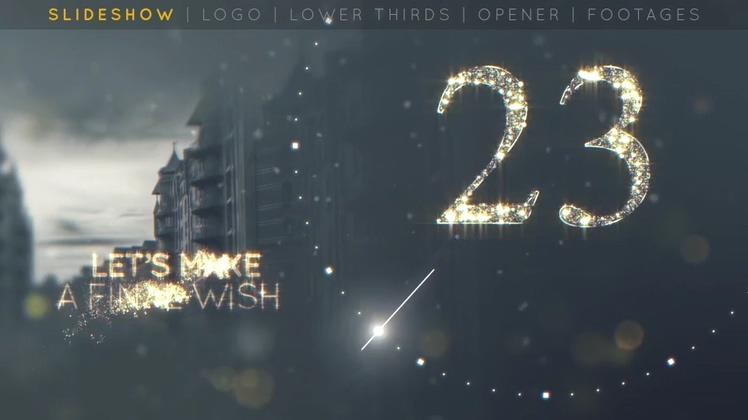璀璨缤纷金色数字新年倒计时AE模板