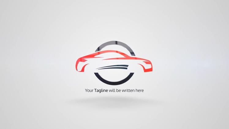 科技简洁辉光旋转logoAE模板