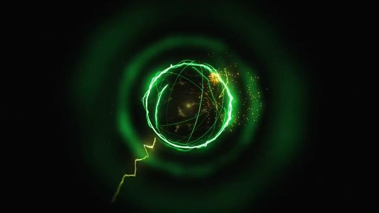 科技球体吸收能量logoAe模板