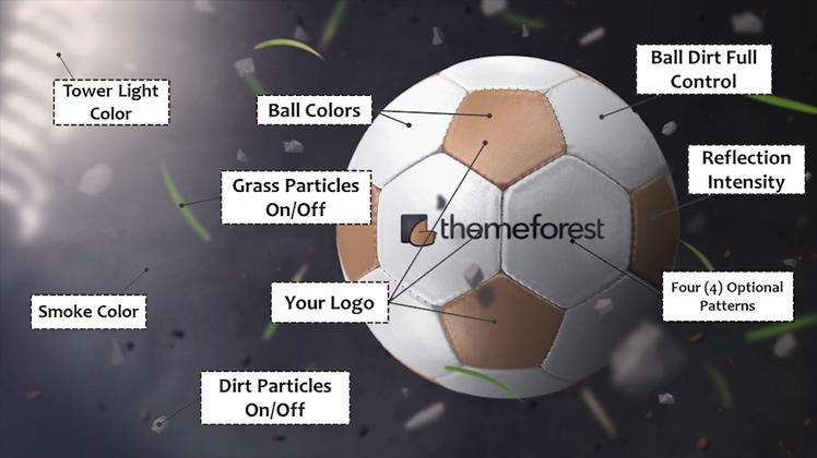 足球竞技游戏比赛宣传栏目片头AE模板