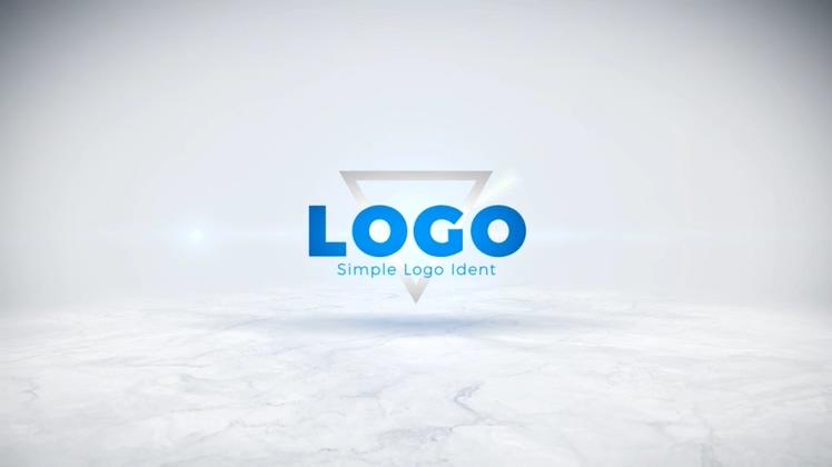 简洁时尚科技旋转logoAE模板