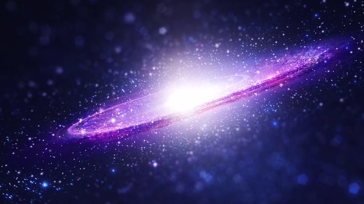 璀璨宇宙星空为背景文字遮罩logo片头AE模板
