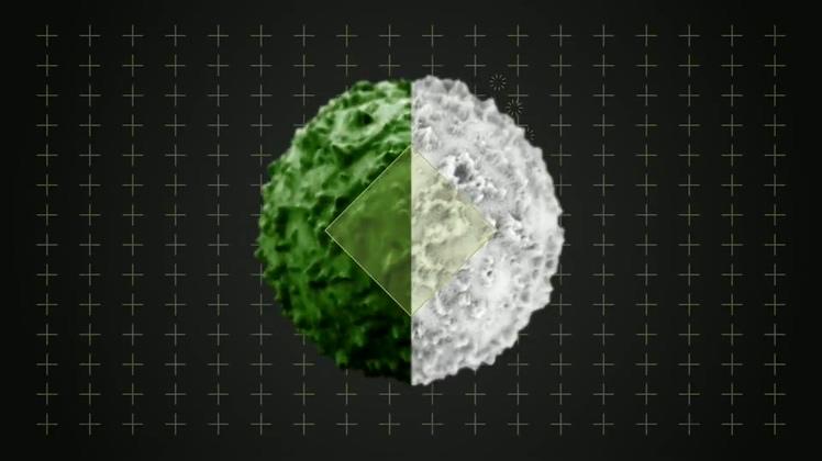 科技球体变换logoAE模板