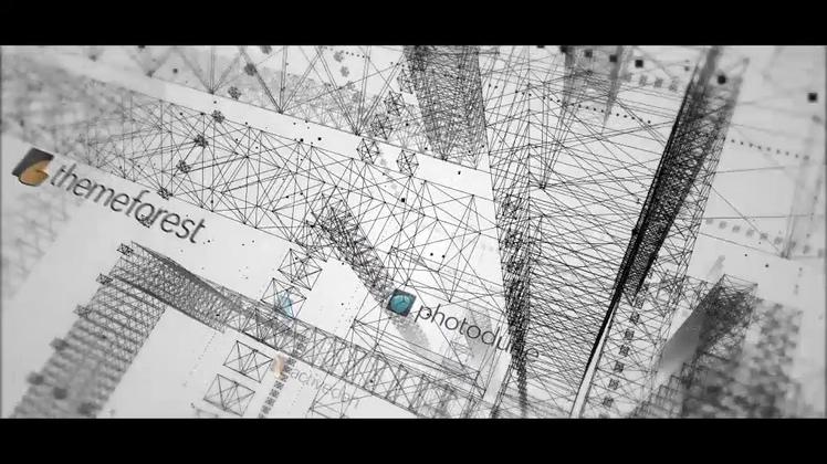 三维线条轮廓空间科技logo演绎
