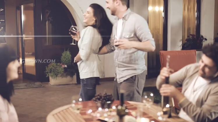 浪漫品味红酒聚会patay视频素材