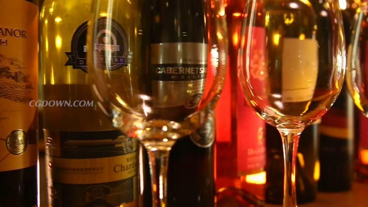 各种品牌红酒红酒庄宣传展示高清视频素材
