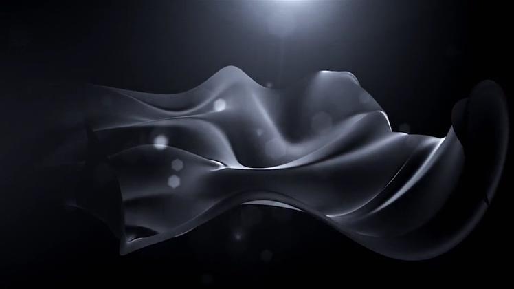 炫酷黑色绸缎飘逸金属质感文字片头AE模板