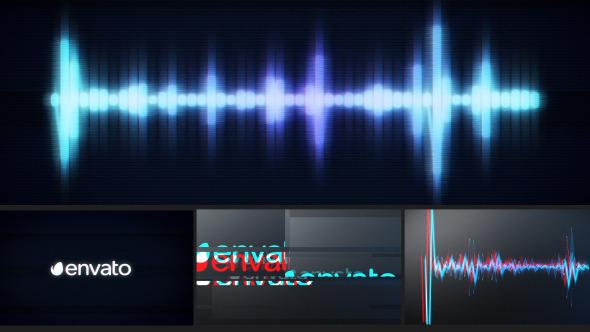 4种音乐节奏音频故障视频素材