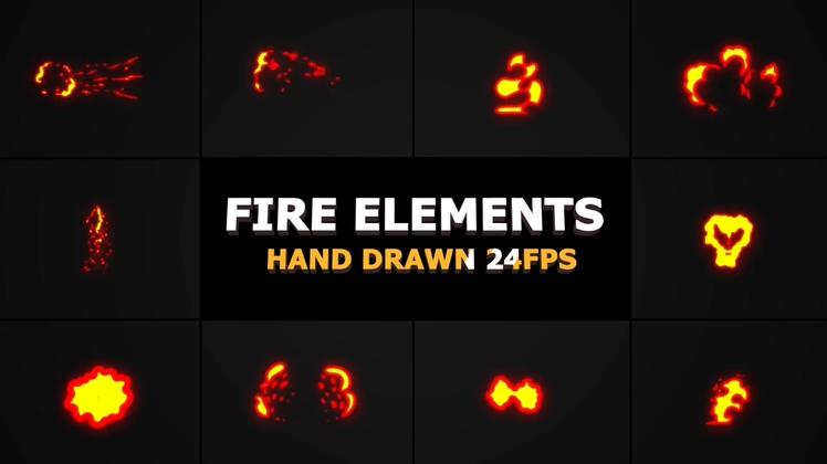 FXBOXMG动画动漫卡通火焰特效Fire Elements