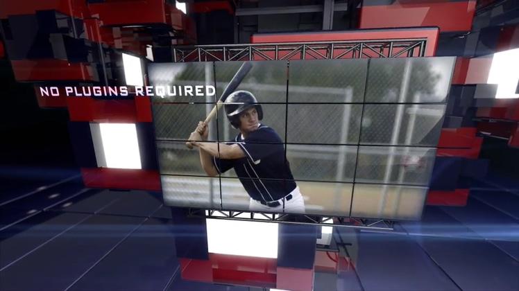 体育,电视,栏目,体育运动竞技电视栏目片头3D Sci-Fi Technology视频素材