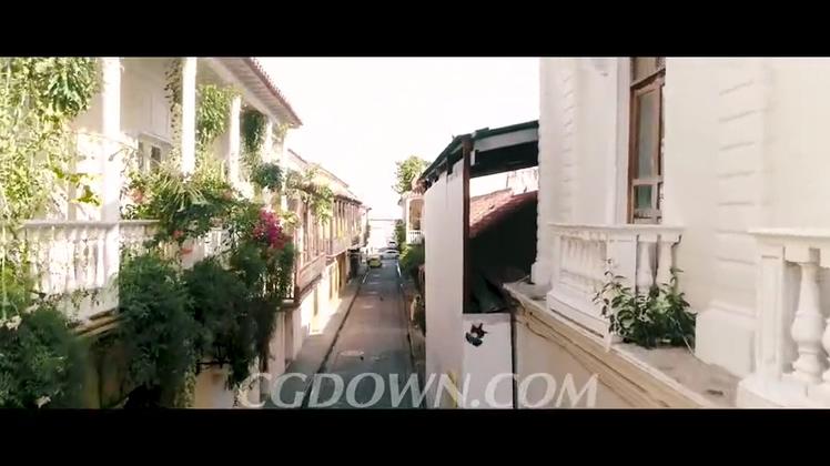 南美哥伦比亚卡塔赫纳城市文化旅游风光高清视频素材