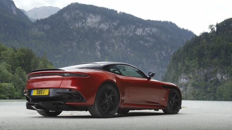 超级棒的2019款阿斯顿马丁DBS Superleggera跑车高清视频素材