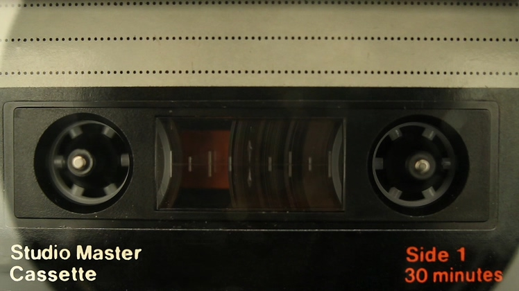 复古古老的播放旧磁带视频素材Cassette Tape