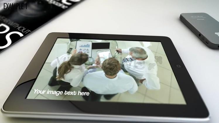 ipad,广告 展示,平板,桌面ipad展示视频图像广告等元素AE模板视频素材