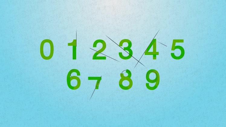 变换分割多彩字母数字特效动态图形