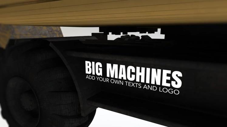 挖掘机,机械,工程,广告,工程接卸挖掘机广告展示Construction Titles视频素材