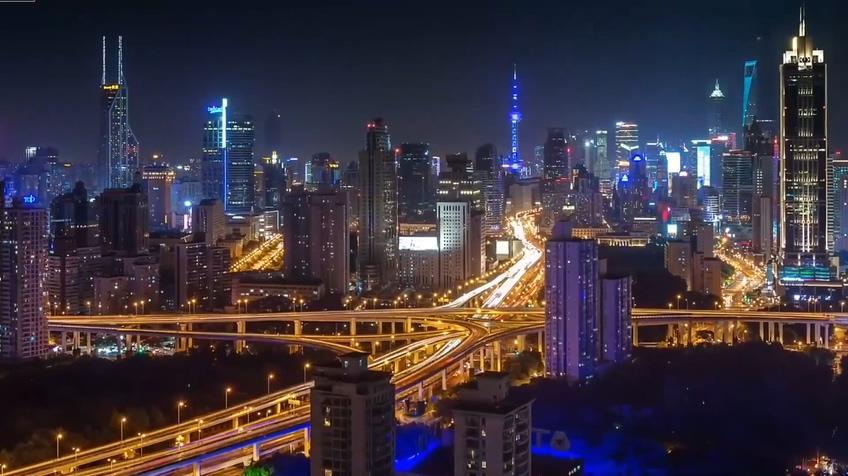 中国繁华都市北京上海城市发展面貌高清视频素材
