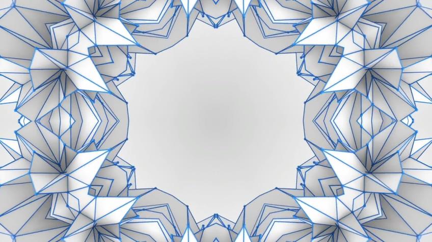 多边形线条形状万花筒特效视频背景素材