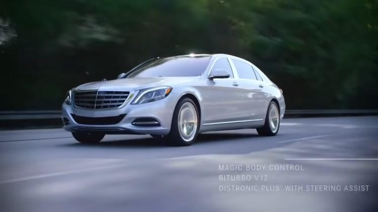 奔驰,迈巴赫,成功,奢华,尊贵,尊贵银色奔驰迈巴赫s600奢华成功人生巅峰广告宣传片视频素材