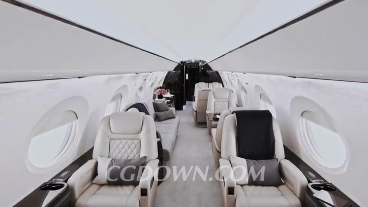 湾流公务机 Gulfstream G500 宣传视频素材