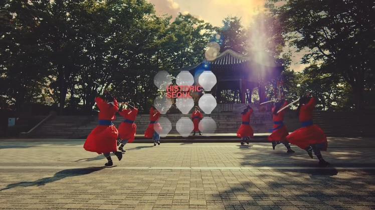 韩国首尔城韩国文化电视宣传片视频素材