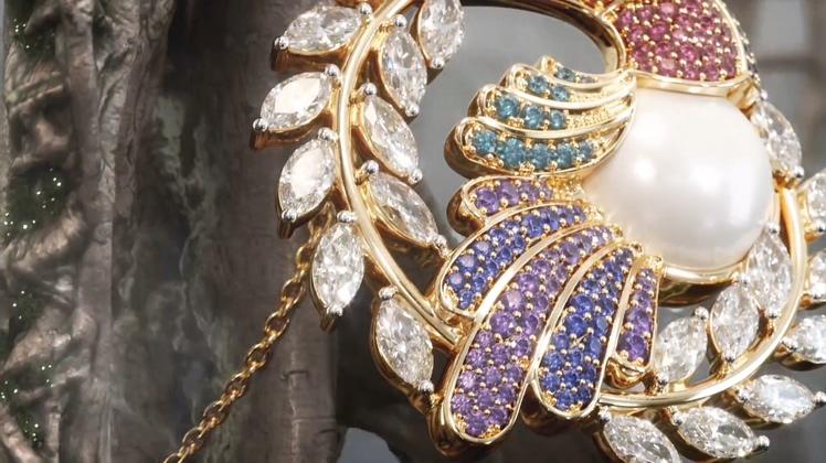 丛林,珠宝,华丽,钻石,3d制作华丽的在丛林中展示神秘钻石珠宝视频素材