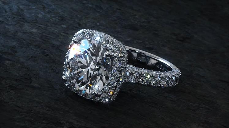 闪耀璀璨钻石戒指广告