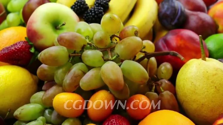 近距离拍摄各种水果视频素材