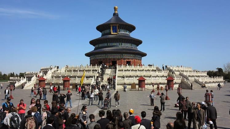 中国北京天坛旅游镜头