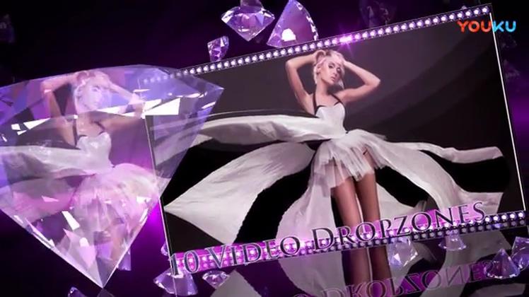 高贵紫色钻石绚丽Apple Motion模板