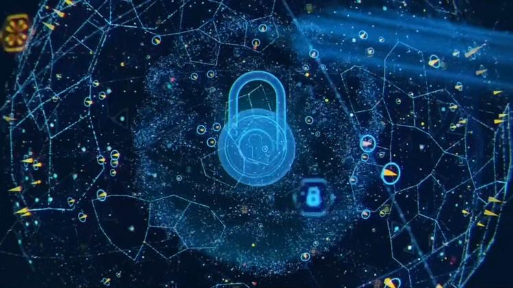 科技大数据分析区块链加密解密存储