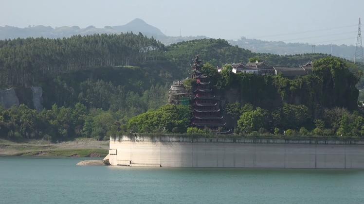 长江乘船旅游石宝寨景点实拍