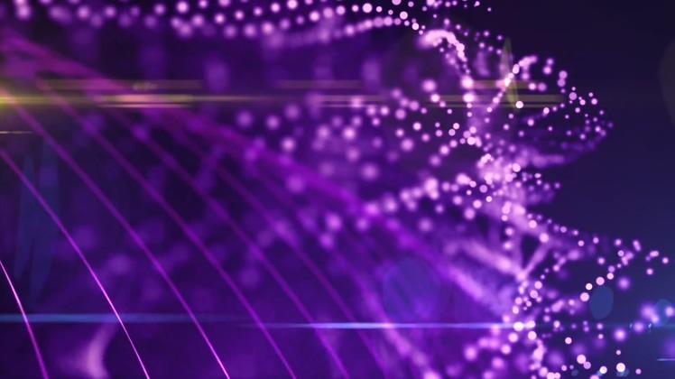 华丽紫色飘逸粒子背景Gorgeous purple elegant